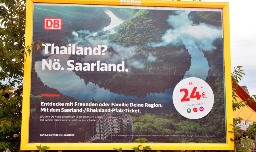 Bahn-Werbung: Saarland statt Thailand?
