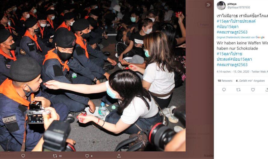 Thailands aktuelle Lage: Schokolade statt Waffen?